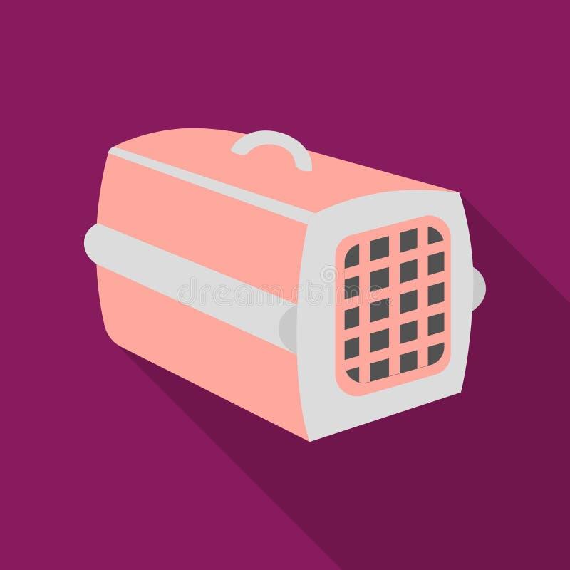 Choyez l'icône de cas dans le style plat d'isolement sur le fond blanc Illustration de vecteur d'actions de symbole de chat illustration libre de droits