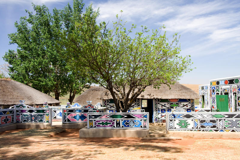 Choza de África fotografía de archivo libre de regalías