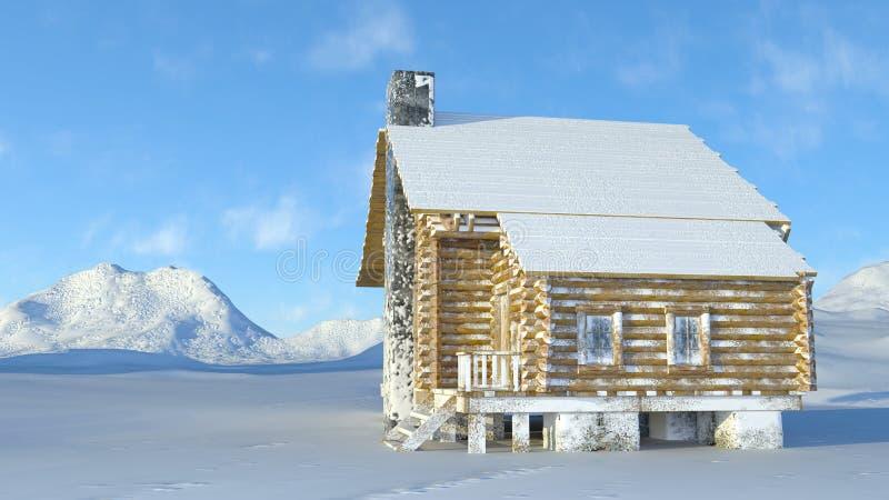 Choza de la montaña foto de archivo