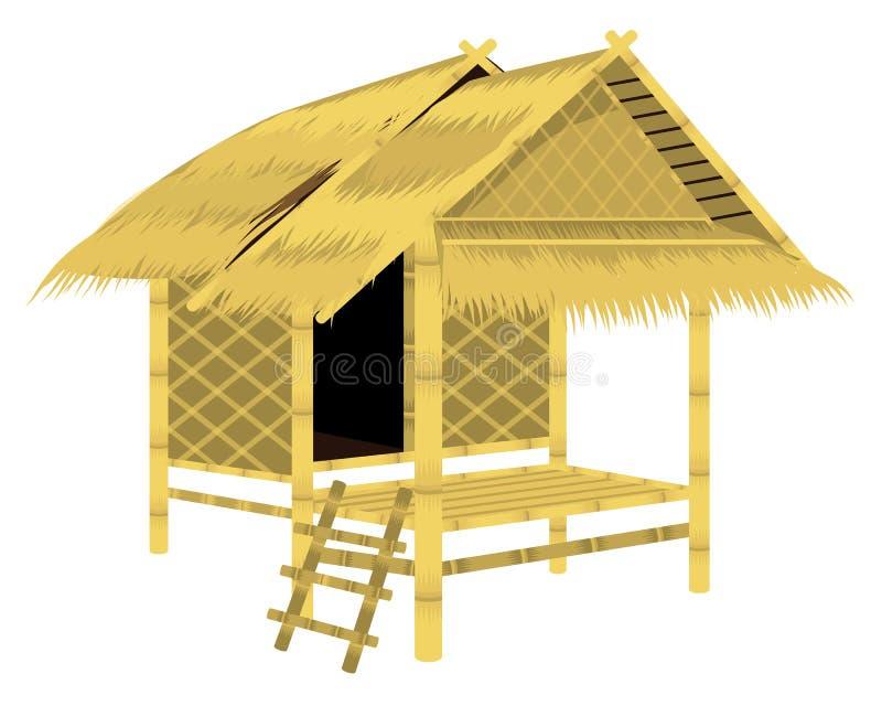 Choza de la paja del tejado libre illustration