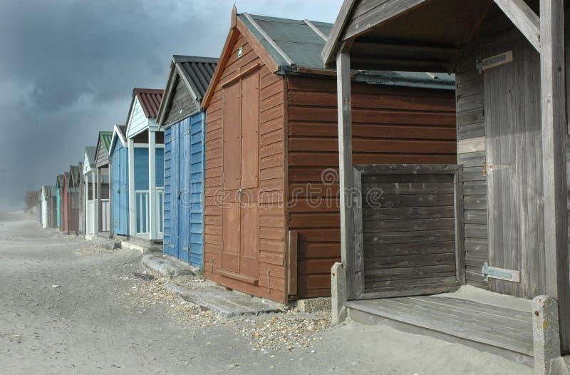 Choza Reino Unido de la playa fotos de archivo libres de regalías