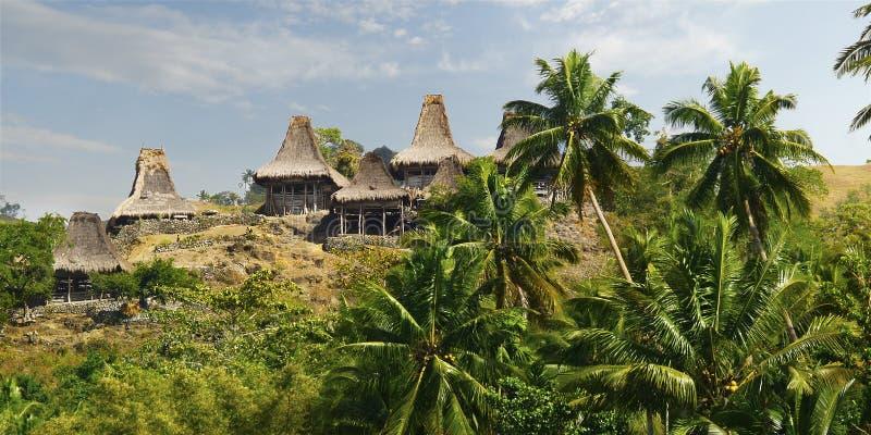 Choza tradicional del habitante en la isla de Sumba imágenes de archivo libres de regalías