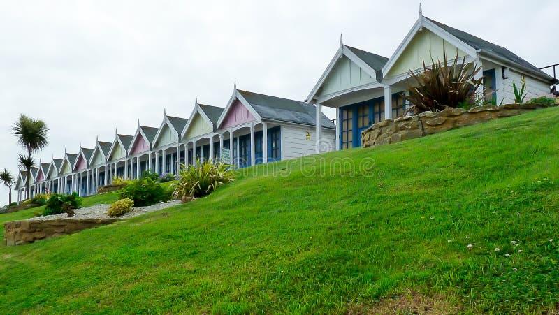 Chozas de la playa de Weymouth imágenes de archivo libres de regalías