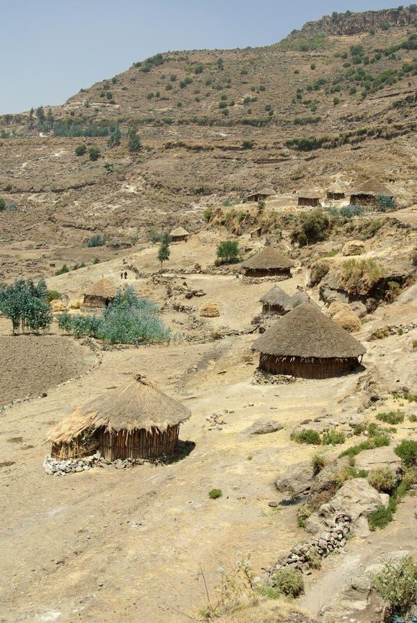 Chozas etíopes fotos de archivo