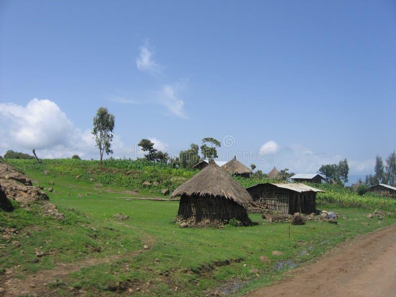Chozas rurales imagen de archivo