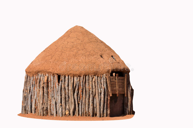 Chozas tradicionales de la gente del himba fotografía de archivo