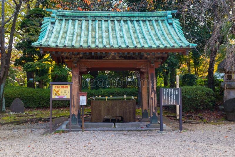 Chozuya or Temizuya water ablution pavilion stock photo
