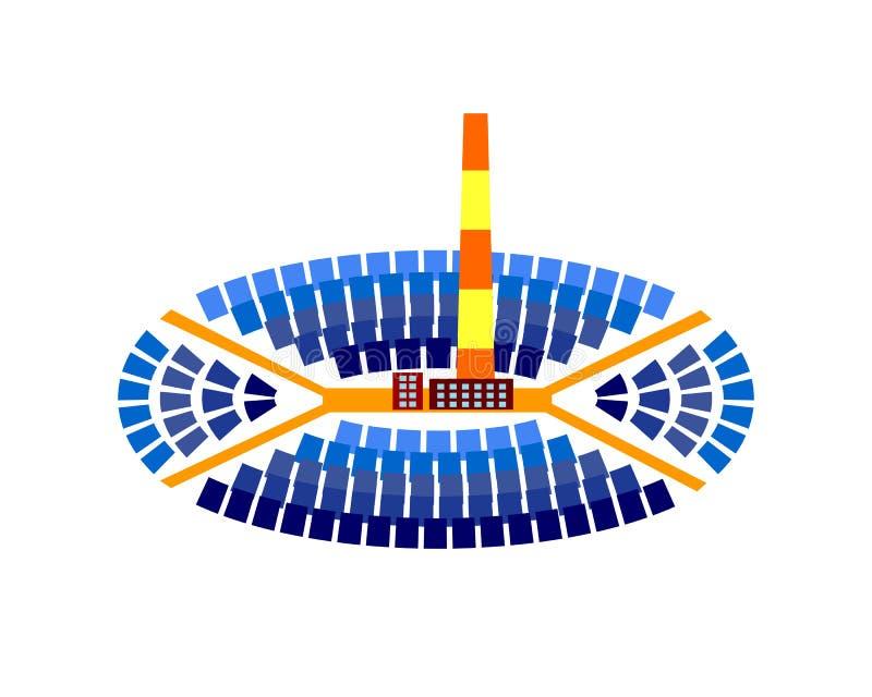 CHP budynku wektoru energetyczna ilustracja ilustracja wektor