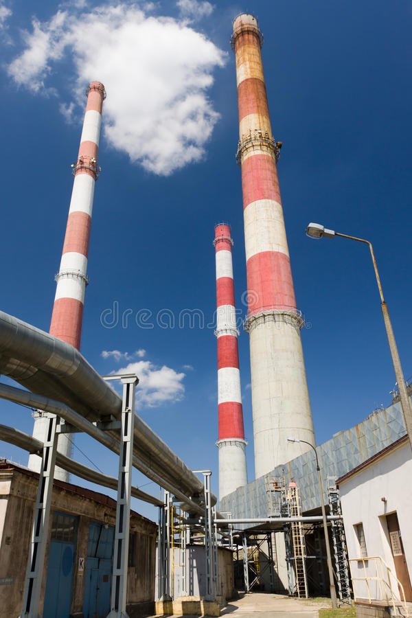 Download CHP station in Lodz stock image. Image of tower, warming - 25851783