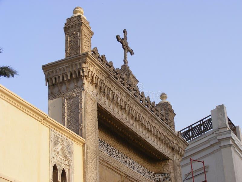 Chrétien accrochant d'église au vieux Caire le Caire antique grec Egypte photos stock