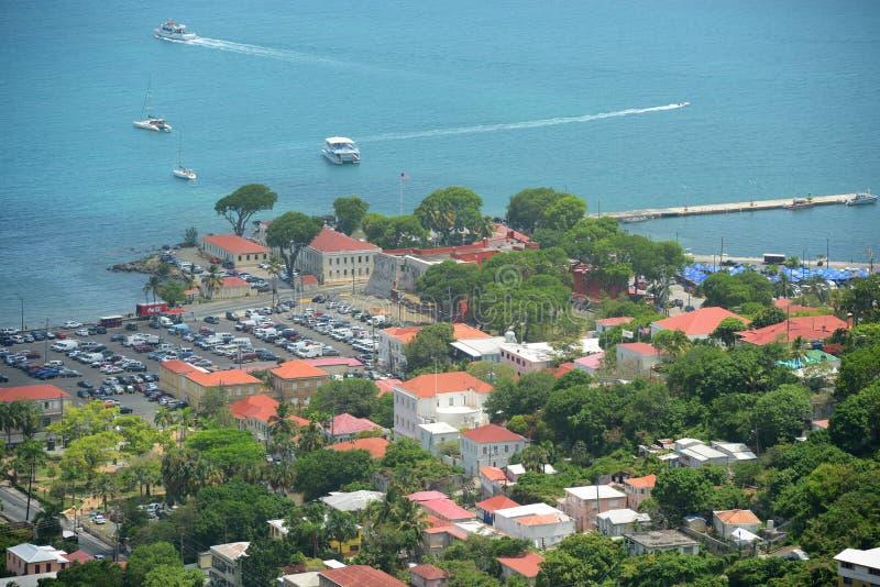 Chrétien de fort, Charlotte Amalie, Îles Vierges américaines photos libres de droits