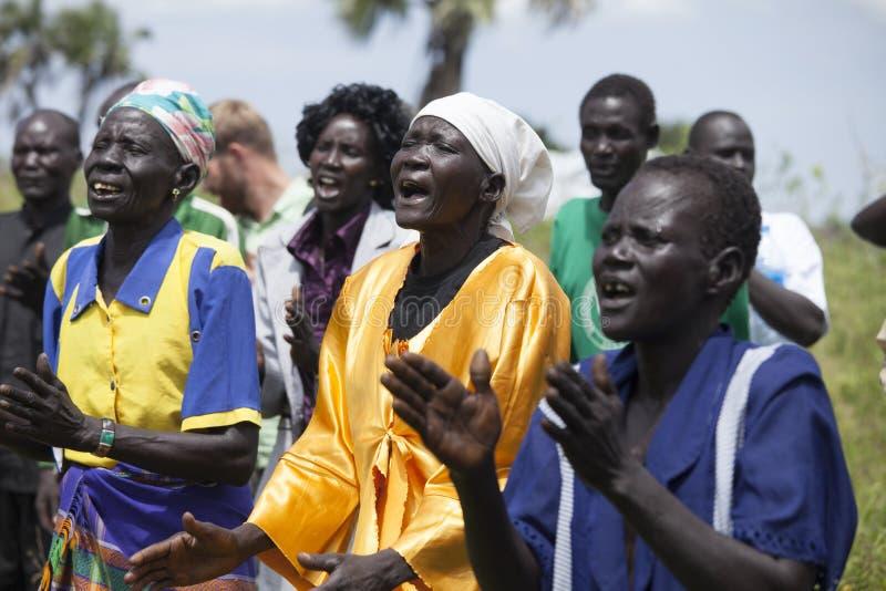 Chrétiens au Soudan du sud photographie stock libre de droits