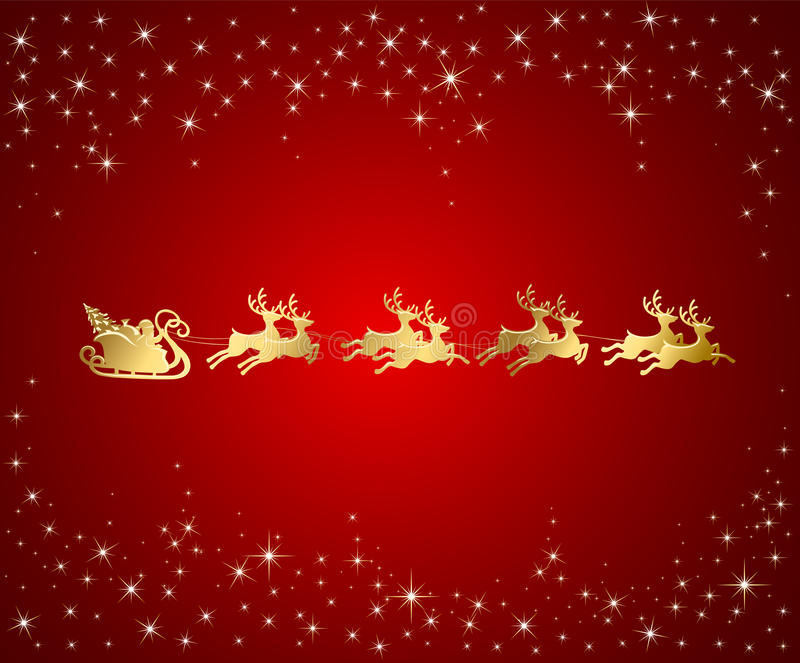 ChRed background with Santa royalty free illustration