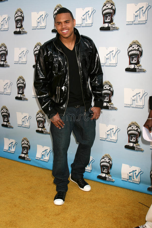 Chris Brown. MTV Movie Awards 2008 Universal City Los Angeles, CA May 31, 2008 stock images