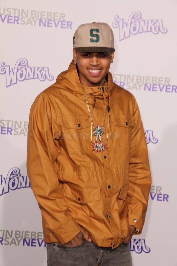 Chris Brown, Justin Bieber, Chris Browning photo libre de droits