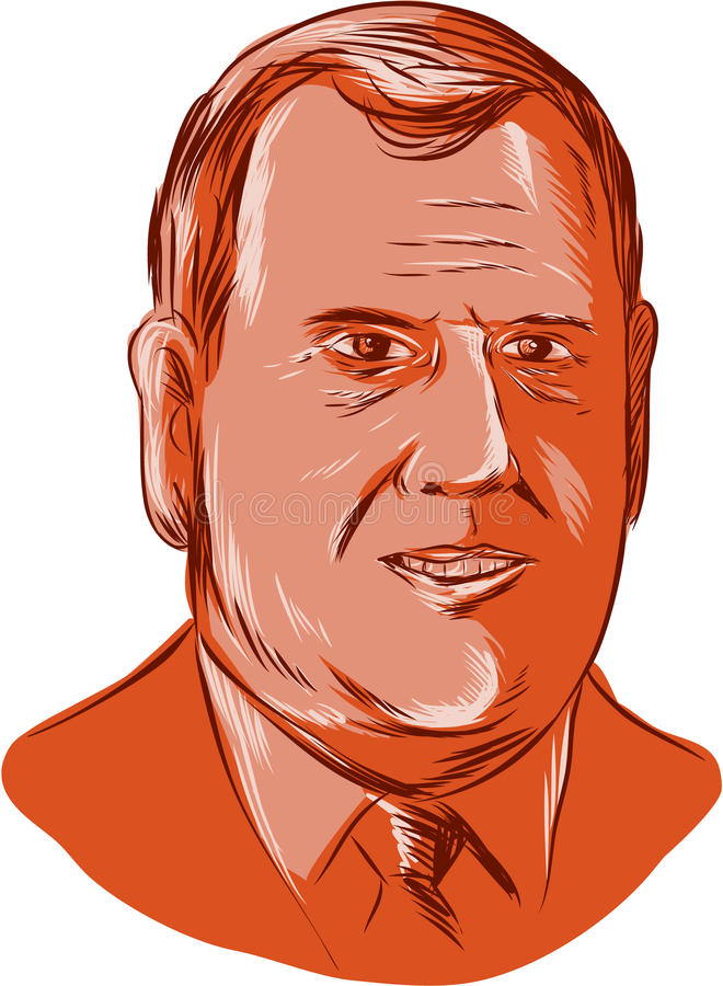 Chris Christie Governor New Jersey ilustração stock