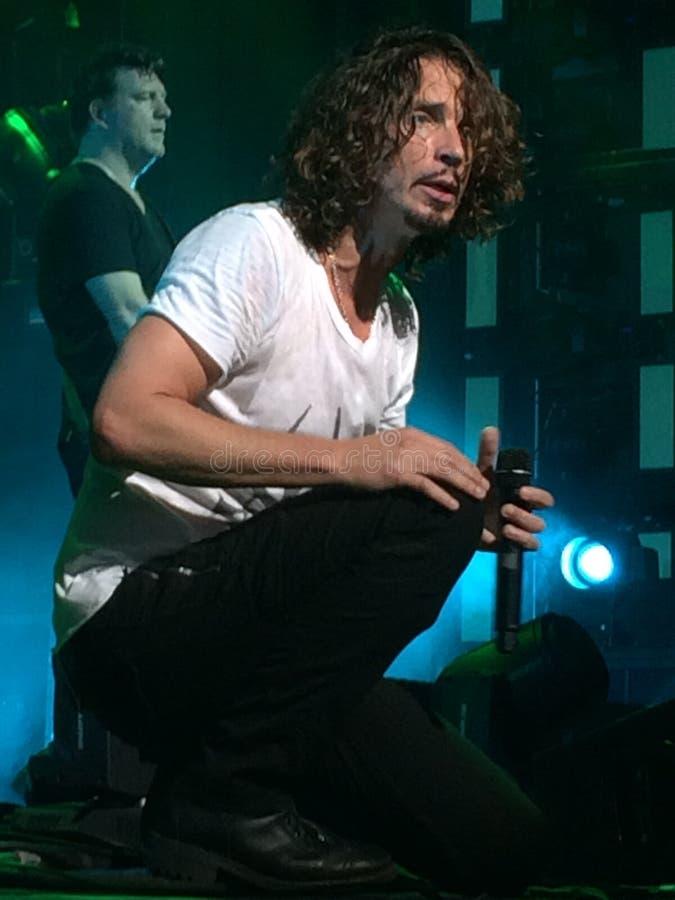 Chris Cornell de Soundgarden foto de archivo