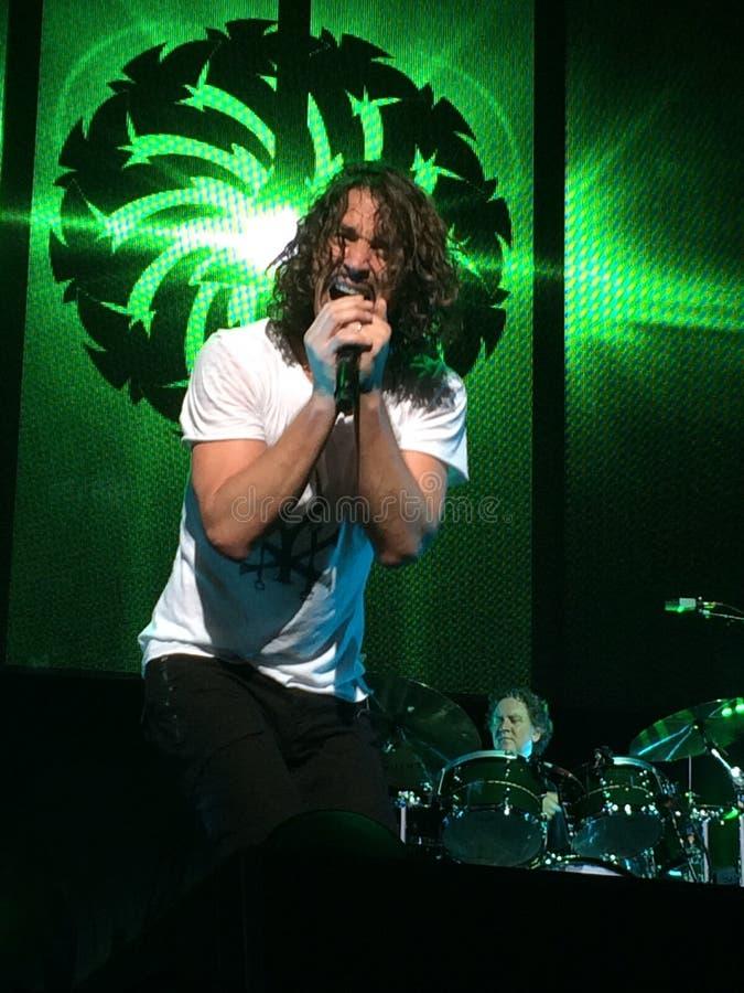 Chris Cornell de Soundgarden fotos de archivo