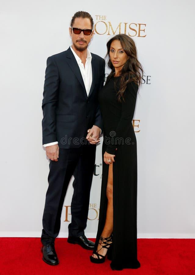 Chris Cornell en Vicky Karayiannis royalty-vrije stock fotografie