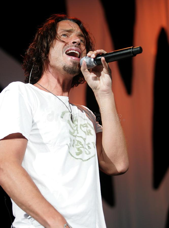 Chris Cornell performs in concert. At the Cruzan Amphitheatre in West Palm Beach, Florida on August 1, 2008 stock photos