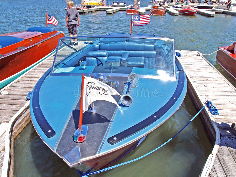 Chris Craft Boat stock afbeelding