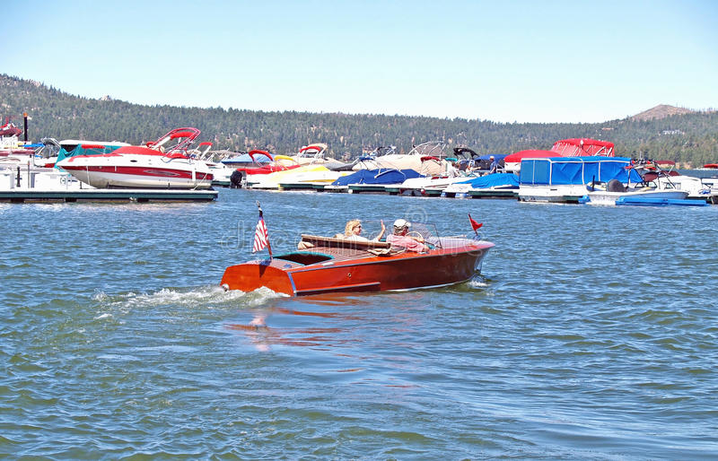 Chris Craft Speed Boat royalty-vrije stock foto