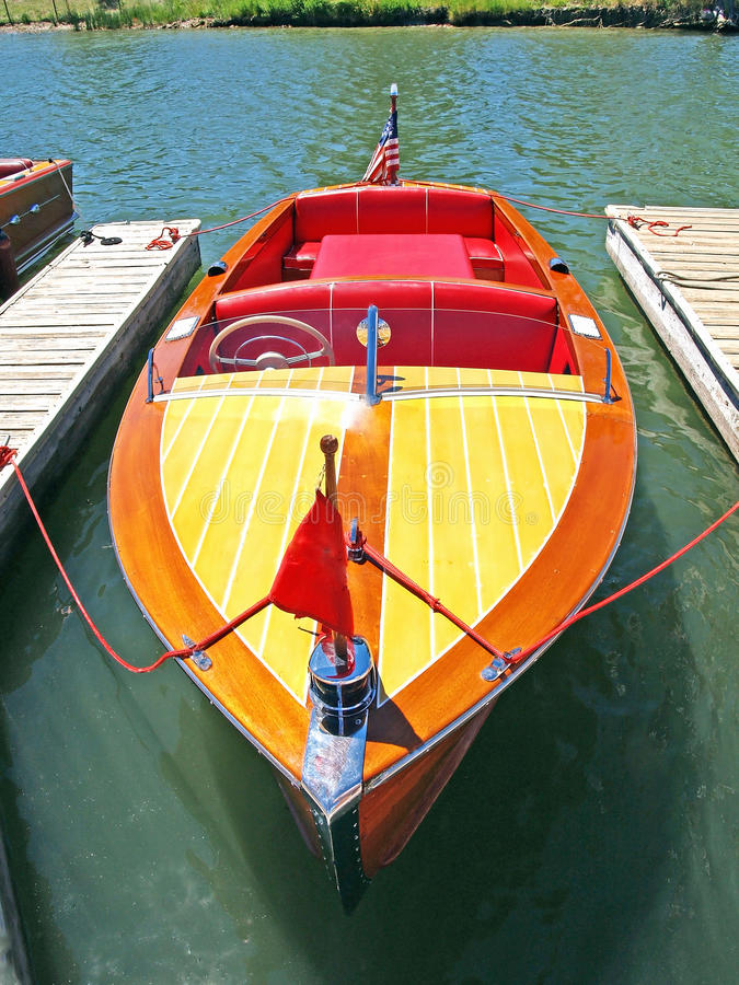 Chris Craft Speed Boat royalty-vrije stock afbeeldingen
