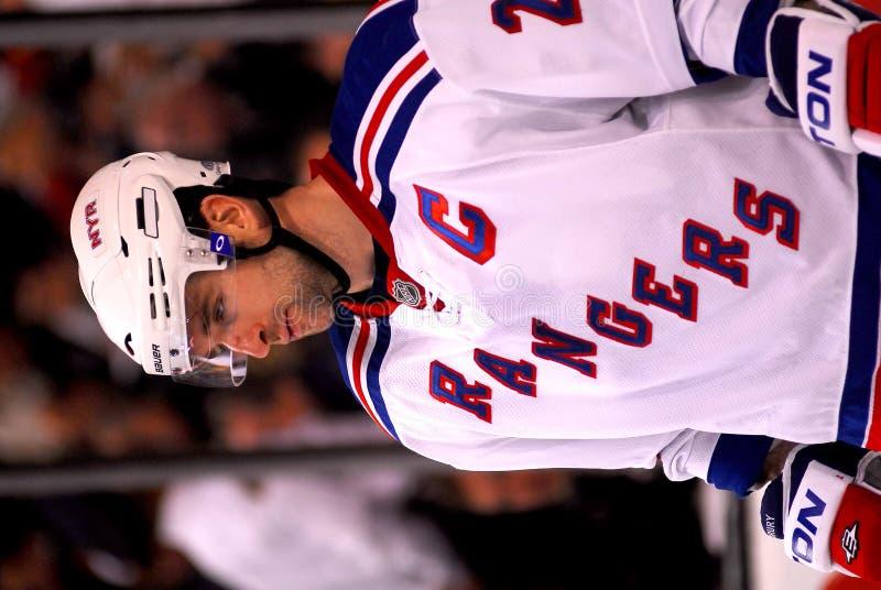 Chris Drury New York Rangers. New York Rangers team captain Chris Drury #23 royalty free stock photo