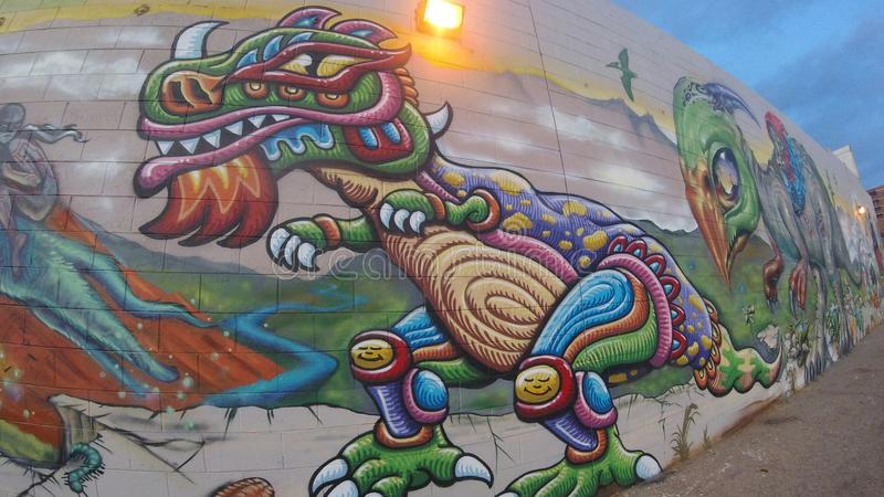 Chris Dyer Mural royaltyfri foto