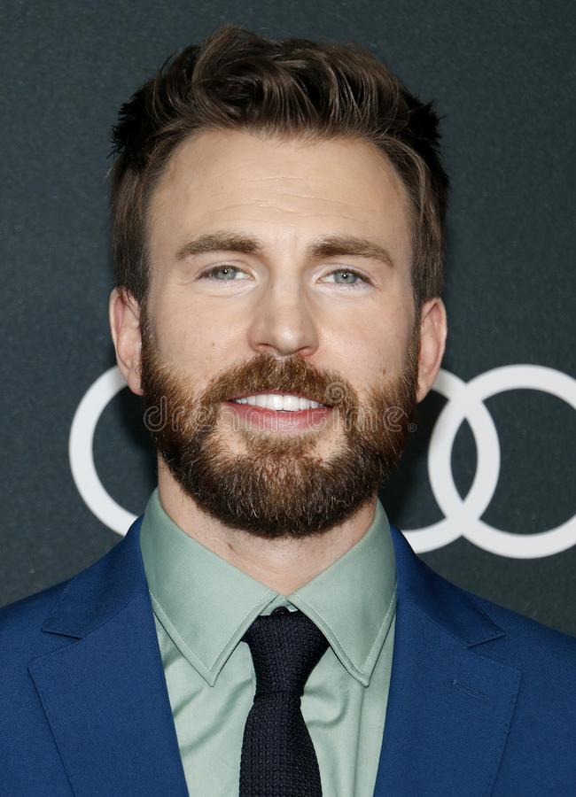 Chris Evans. At the World premiere of `Avengers: Endgame` held at the LA Convention Center in Los Angeles, USA on April 22, 2019 royalty free stock photo