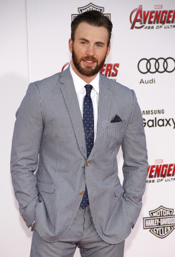 Chris Evans. At the World premiere of Marvel's 'Avengers: Age Of Ultron' held at the Dolby Theatre in Hollywood, USA on April 13, 2015 stock image