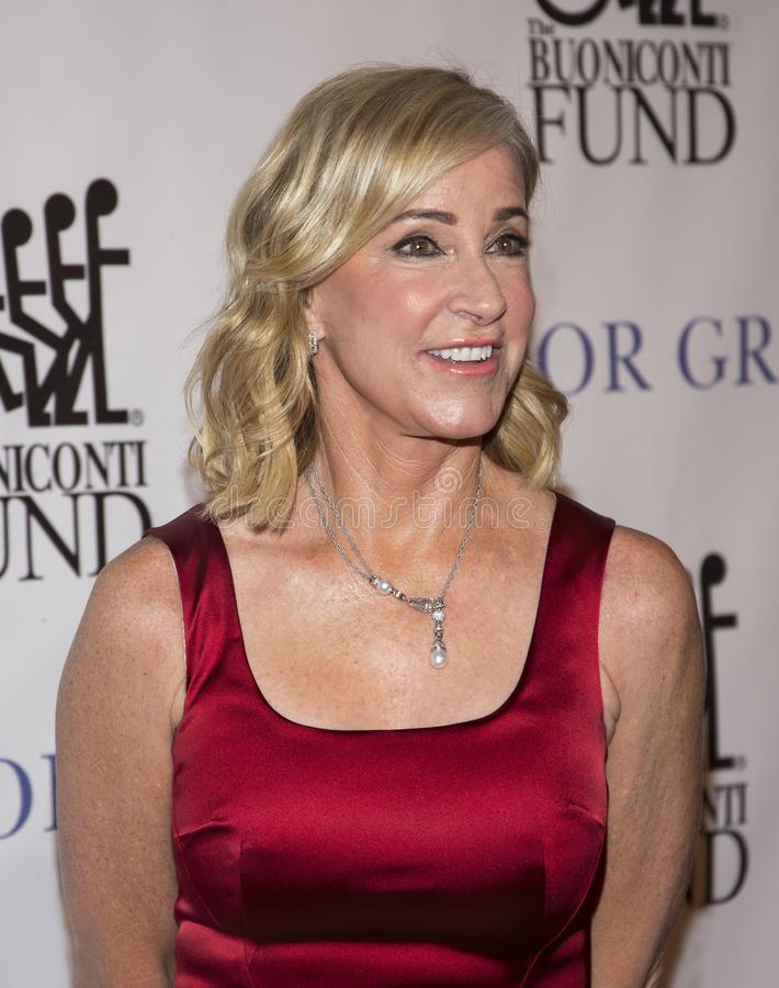Chris Evert. Retired tennis icon and grand slam champion, Chris Evert, now a tv tennis match commentator, attends the 33rd Annual Great Sports Legends Dinner, at stock photos