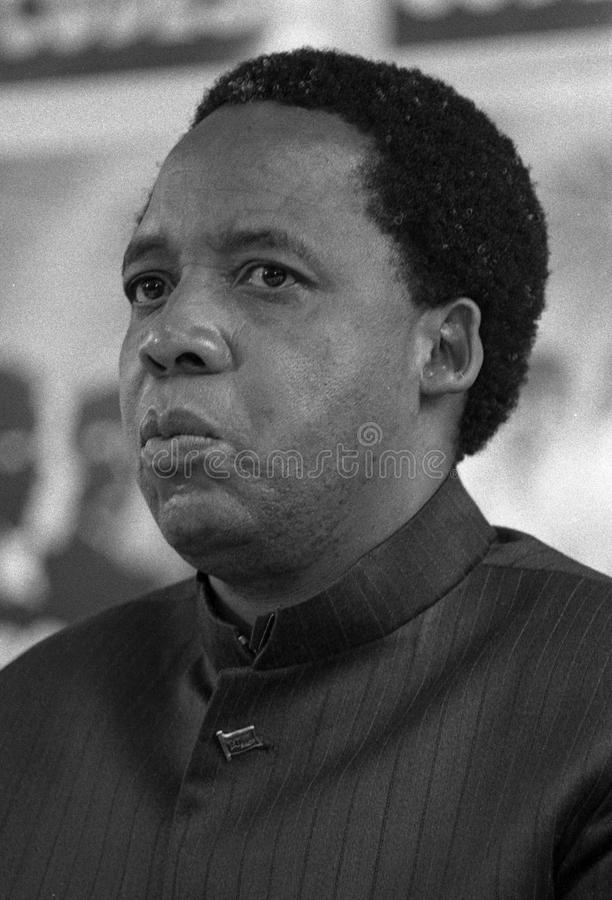 Chris Hani. SOUTH AFRICA Johannesburg -- 21 Dec 1991 -- SACP politican Chris Hani at the CODESA meeting at Kempton Park in Johannesburg South Africa -- Picture royalty free stock image