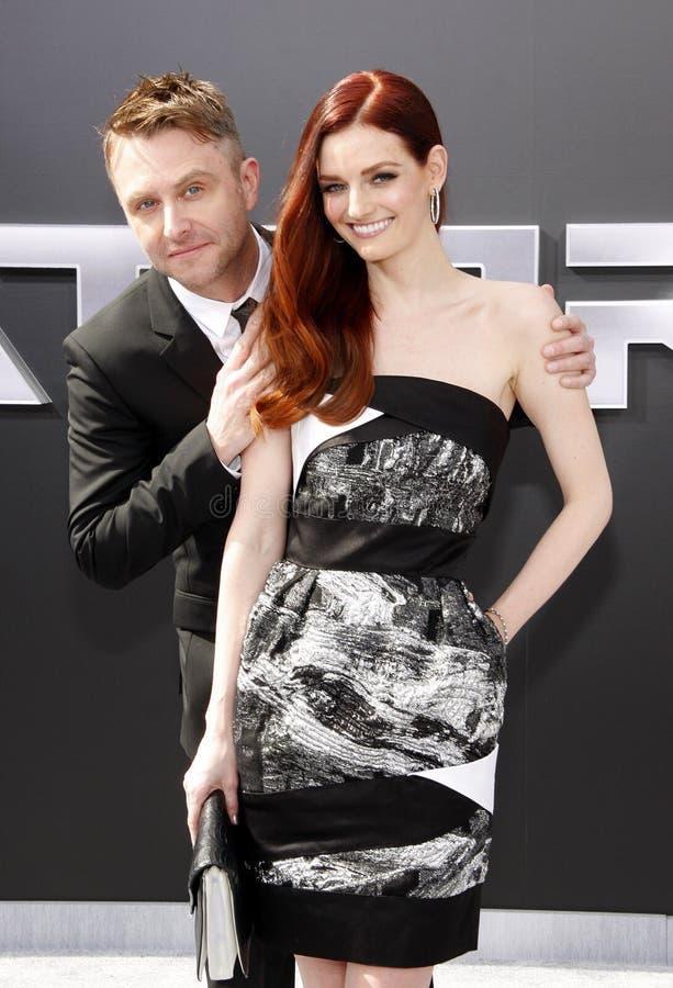 Chris Hardwick en Lydia Hearst royalty-vrije stock foto