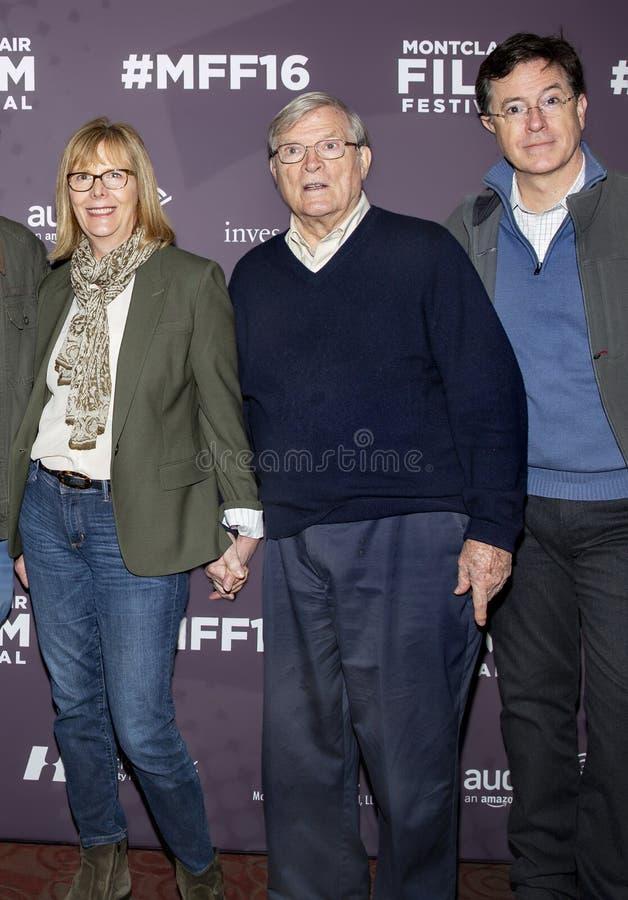 Chris Hegedus, D a Pennebaker, et Stephen Colbert photo libre de droits