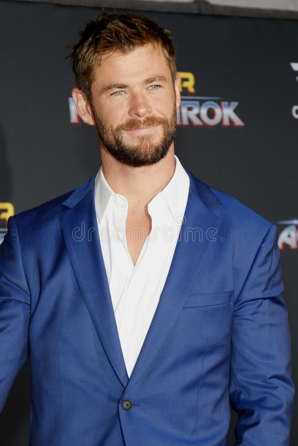 Chris Hemsworth royalty-vrije stock afbeeldingen