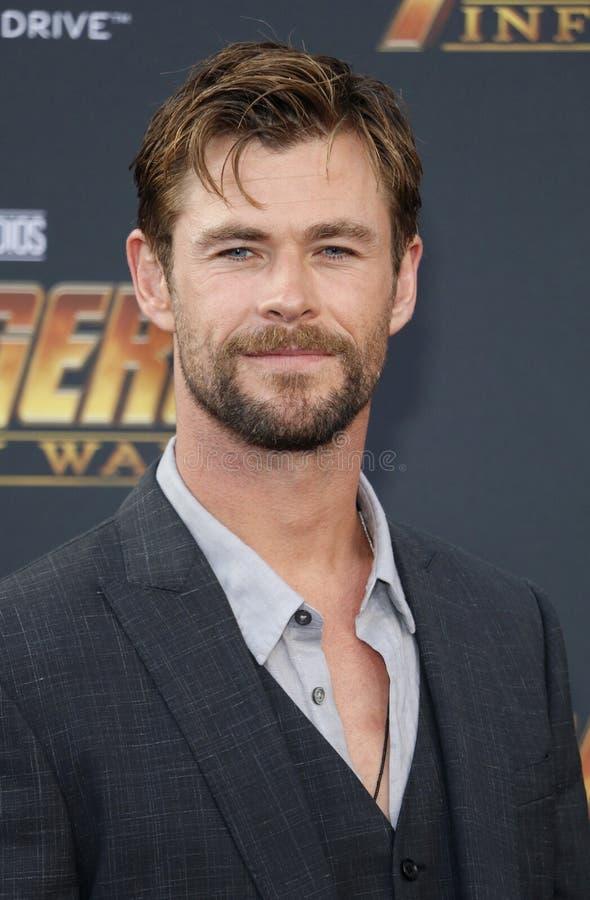 Chris Hemsworth imagem de stock
