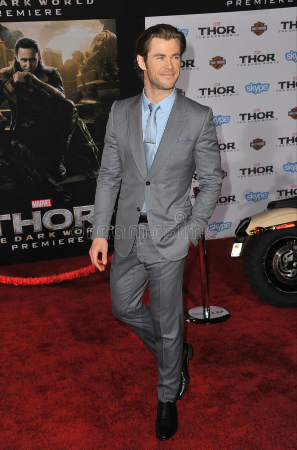 Chris Hemsworth fotografia de stock