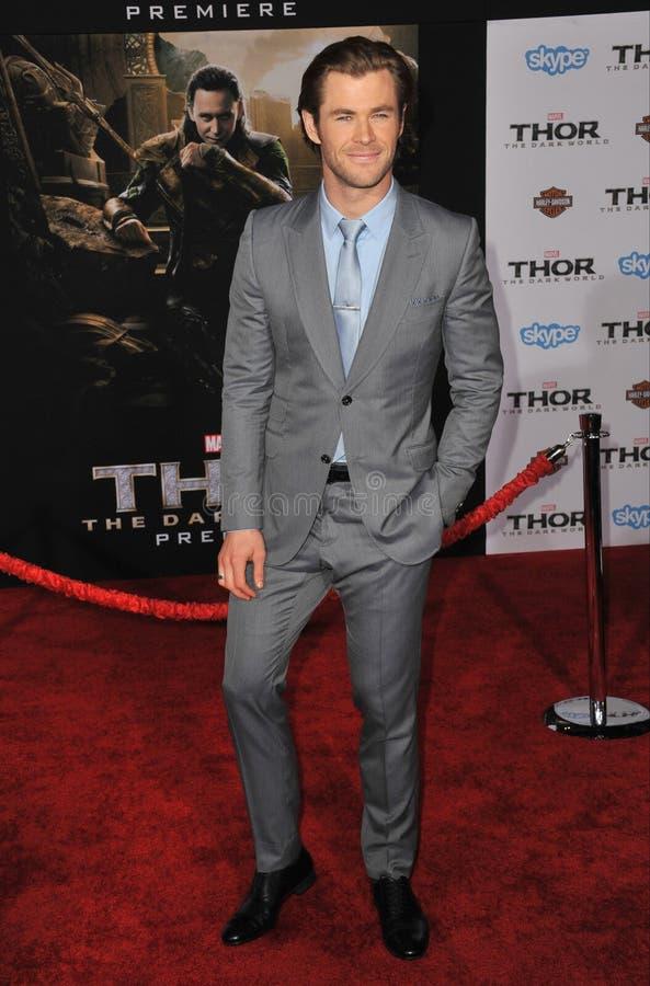Chris Hemsworth foto de stock