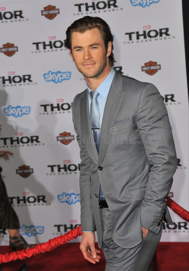 Chris Hemsworth fotografia de stock royalty free