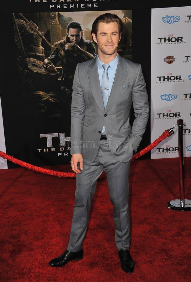 Chris Hemsworth imagem de stock royalty free