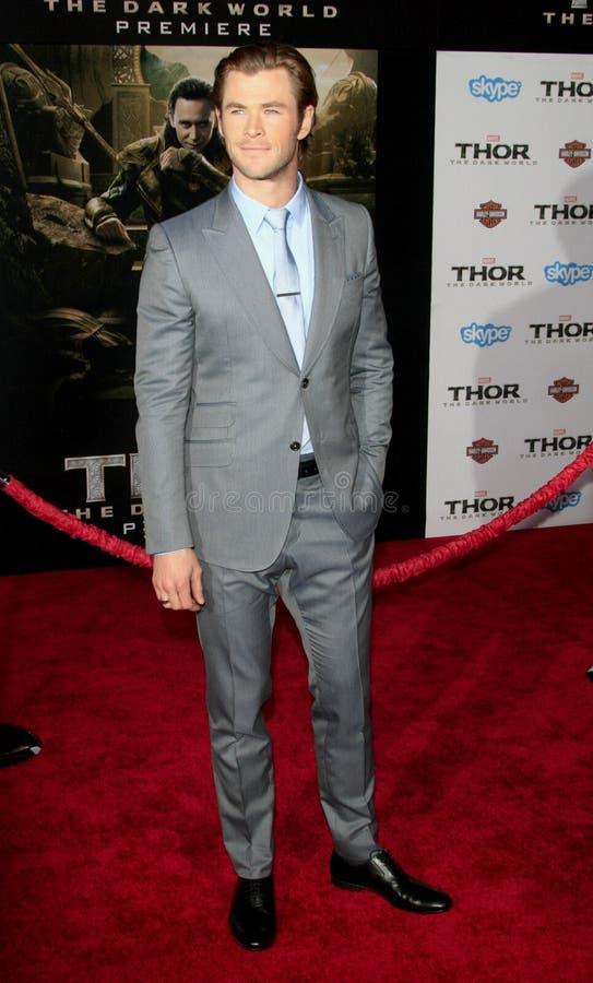 Chris Hemsworth imagens de stock royalty free