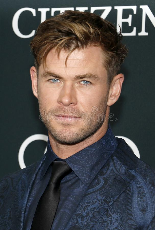 Chris Hemsworth stock afbeelding