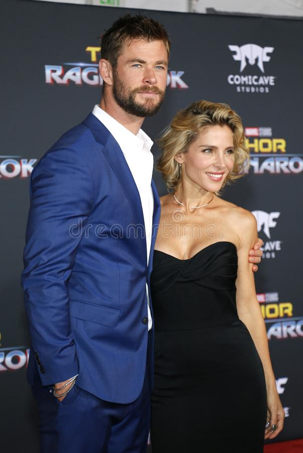Chris Hemsworth e Elsa Pataky fotografia de stock