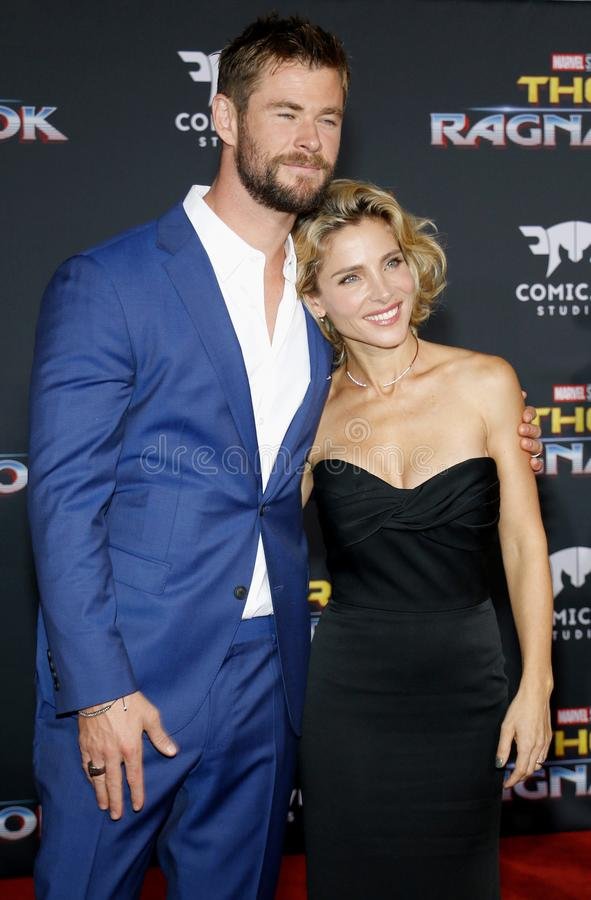 Chris Hemsworth e Elsa Pataky fotos de stock