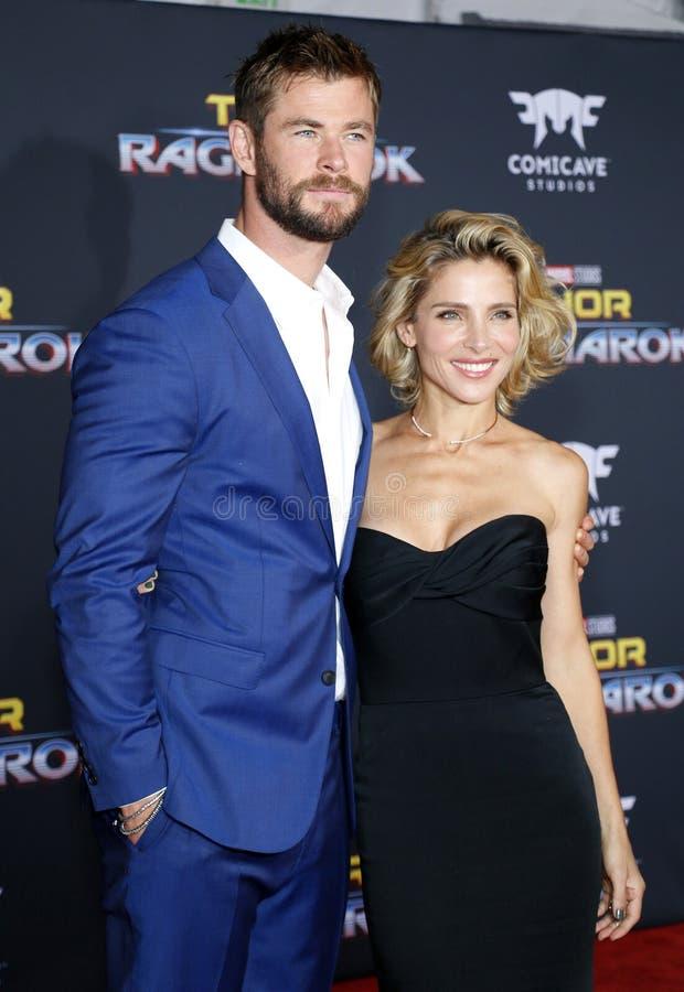Chris Hemsworth e Elsa Pataky fotografia de stock royalty free