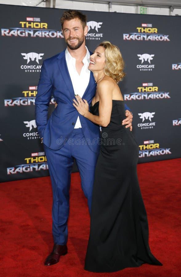 Chris Hemsworth e Elsa Pataky imagem de stock