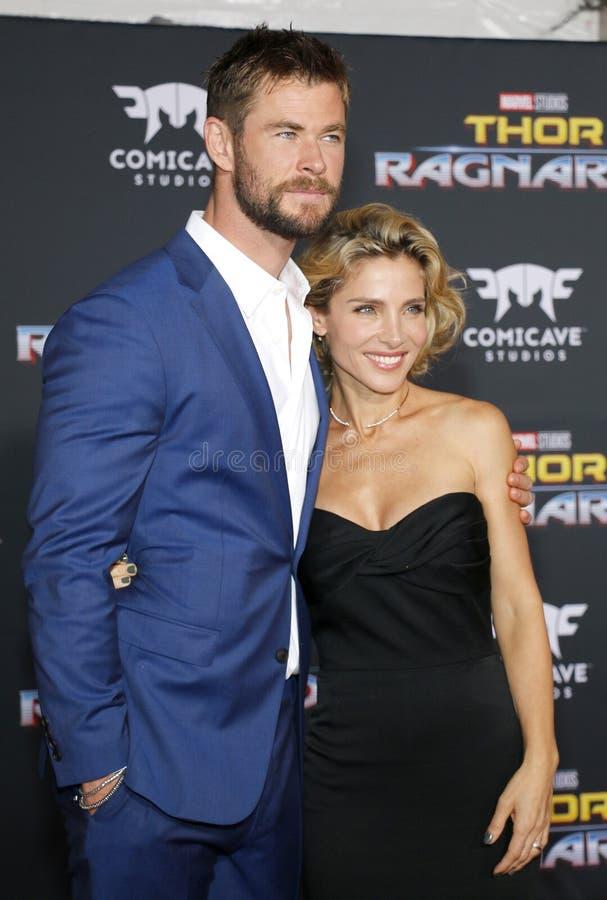 Chris Hemsworth e Elsa Pataky imagem de stock royalty free