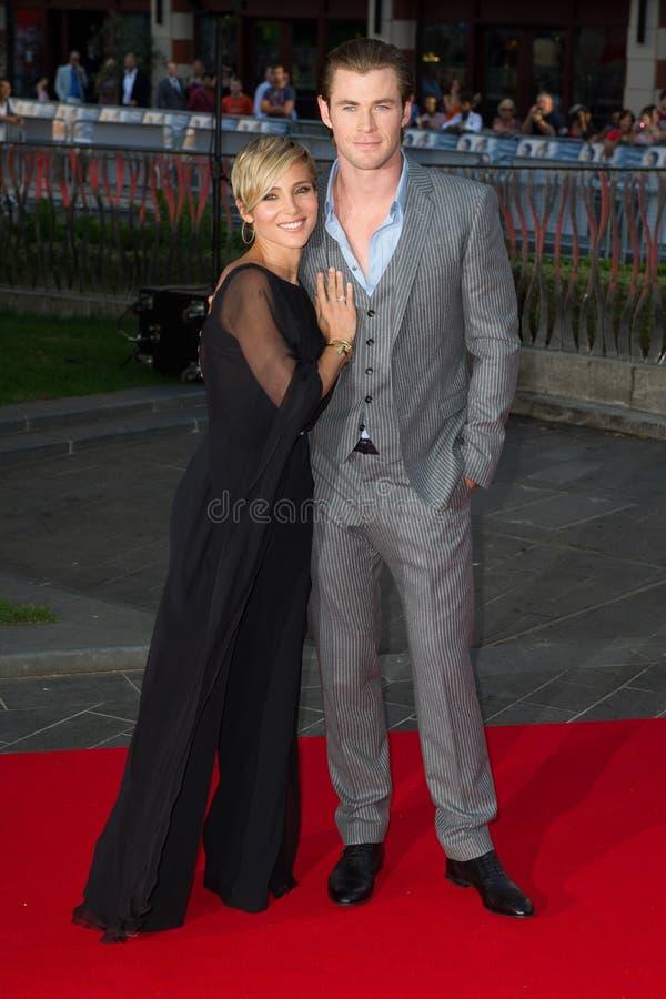 Chris Hemsworth,Elsa Pataki royalty free stock image