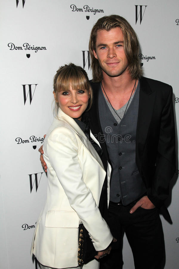 Chris Hemsworth, Elsa Pataky stock foto's